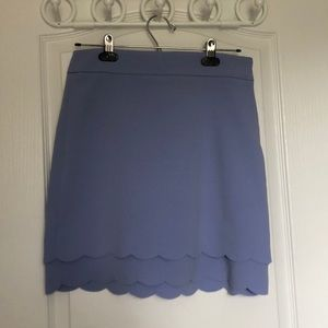 LOFT Skirts - LOFT: scalloped indigo dress skirt